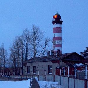 Шепелевский маяк вечером